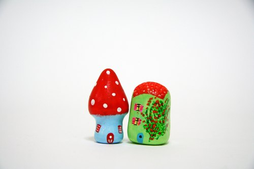 little house 小房子 --小红帽 蘑菇 屋/ 玫瑰花园 屋瓦房 组合