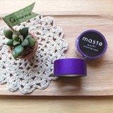 maste Masking Tape 和紙膠帶 Basic 亮眼螢光系【螢光紫 (MST-MKT07-PL)】