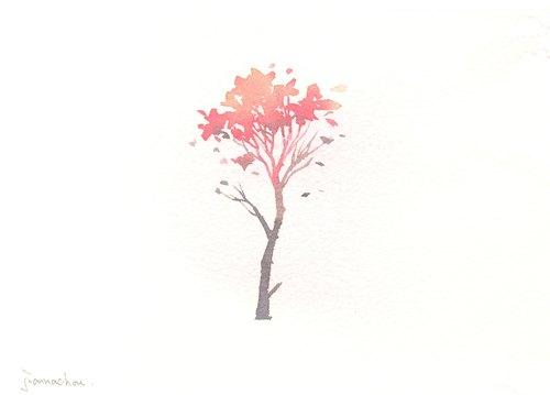 """""""疗愈系树林系列1-107""""水彩手绘限量版明信片/贺卡"""
