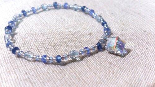 crystal in dearsharka || dotdot.藍晶石 x 丹泉石 x 淨炫彩方形施華洛世奇水晶