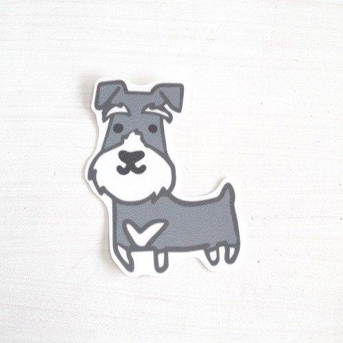 逗趣到處貼防水貼紙- 狗兒 雪納瑞