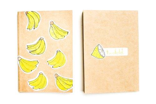 无印刷. 手工笔记本手帐 可爱贴纸水果系