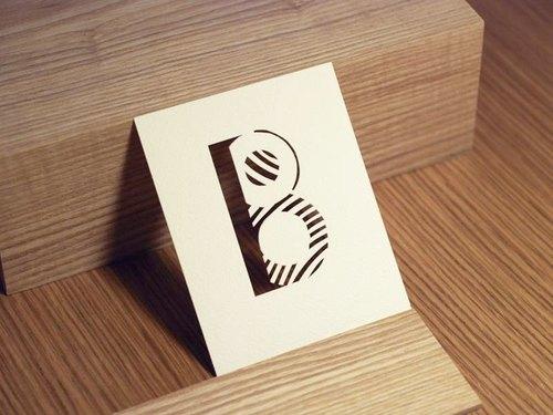 寫給他/她 字母卡片「B」