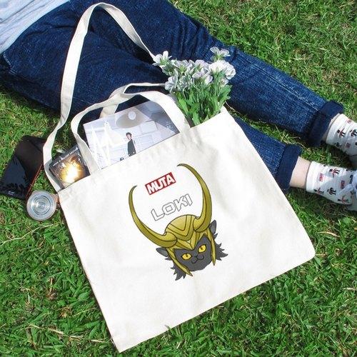 LOKI CAT 文創風橫式帆布包