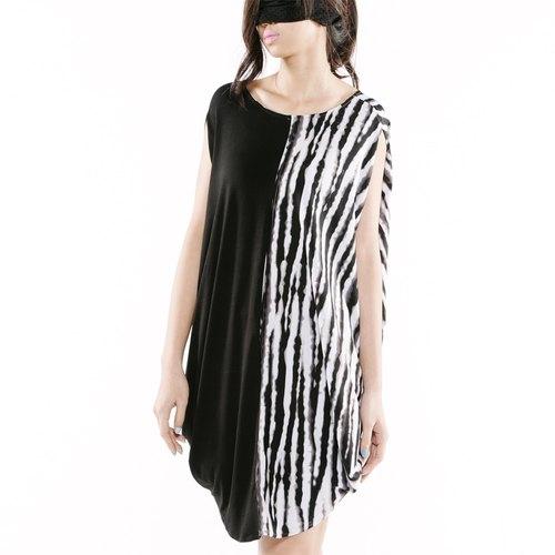 【Dress】四面多穿上衣 < 黑白+黑 / 黑+黑點/ 灰+條紋 x3色>