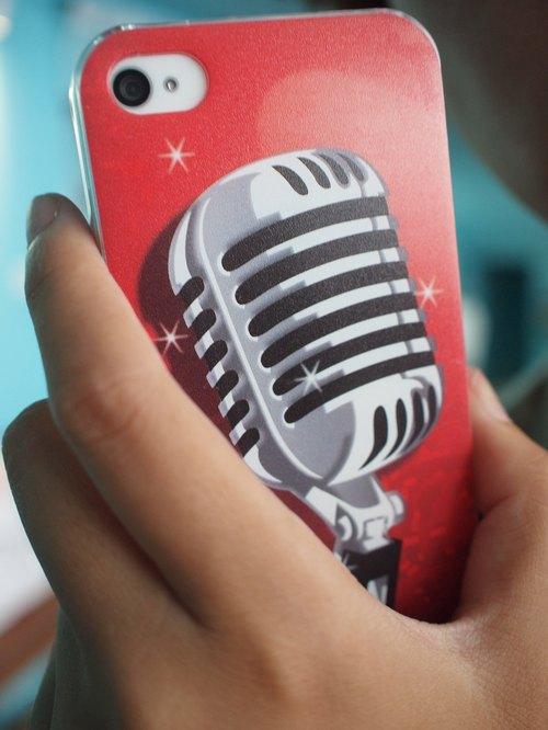 手機殼Iphone 5/4s/4 - 愛瘋麥克風