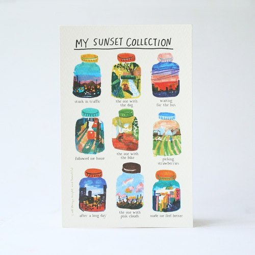 我的夕陽系列 明信片 Sunset Collection Postcard