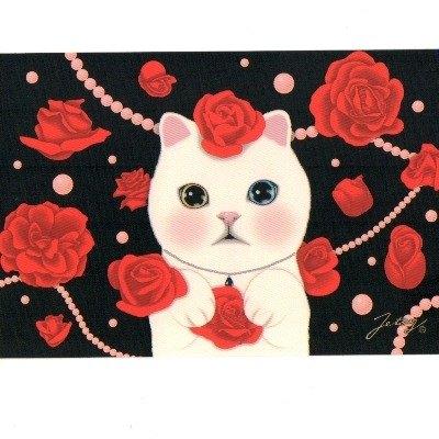 JETOY,Choo Choo 甜蜜貓第二代明信片_Ruby (J1407116)