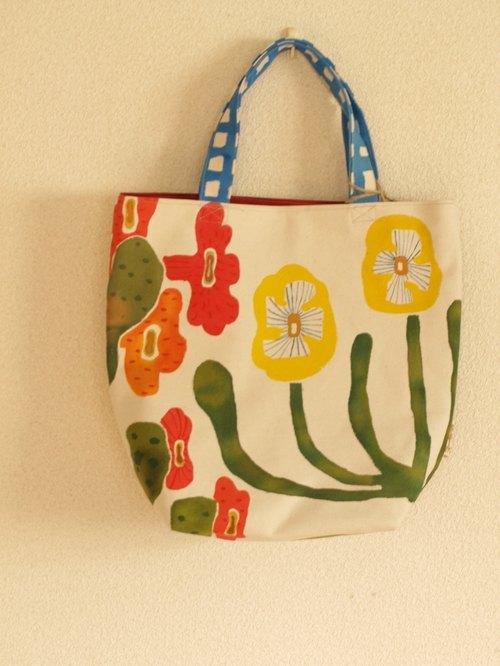院子里的花 手绘包包