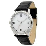 左手錶白色反字