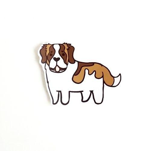 1212玩樂設計 逗趣到處貼 防水貼紙-聖伯納犬