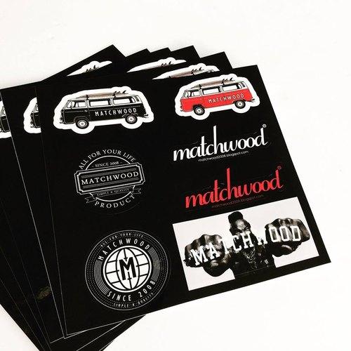 火柴木設計 Matchwood sticker 限量高密度防水貼紙