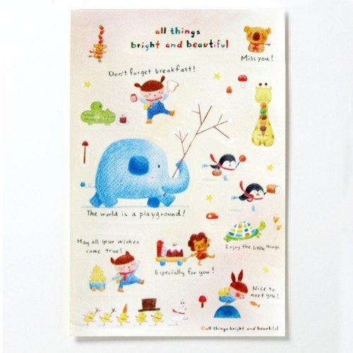 游乐场圣诞贴纸 play sticker