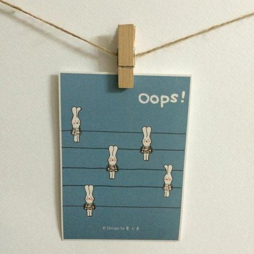 《藝之魚》 OOPS! 卡片 明信片 --C0073