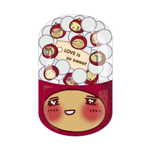 毛毛蟲│膠囊明信片-LOVE is so sweet