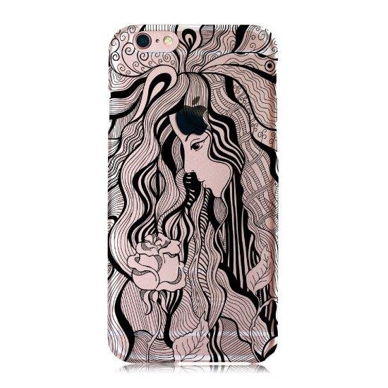 【手绘-玫瑰女神】透明壳商品 - iphone刺青手机壳 大尾流氓 情人节