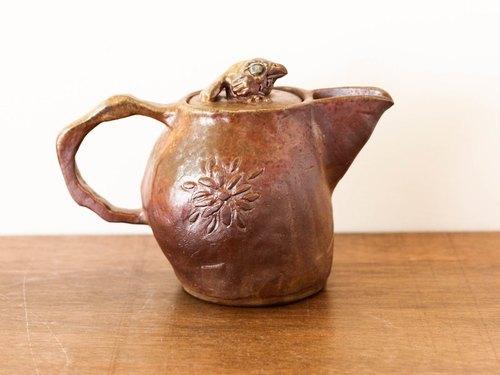 鸟语花香 柴烧手捏雕塑茶壶 -限量1件