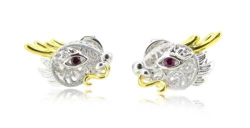 HK108 ~ 925銀龍年造型耳環