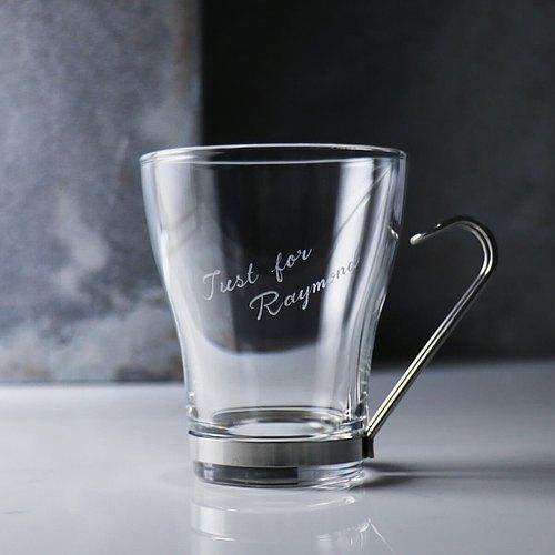 220cc【MSA刻字咖啡杯】義大利 Bormioli Rococo強化耐熱Oslo卡布奇諾杯 生日禮物