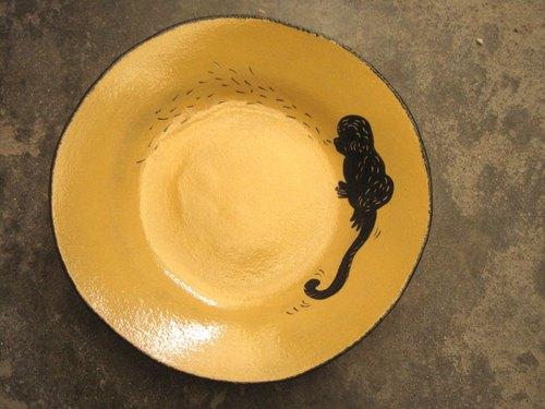 dodo手作 悄悄话.动物剪影系列-猴子圆盘(黄色)