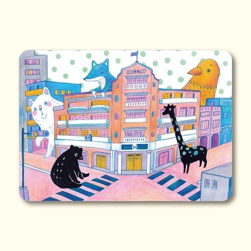 路口的林百貨 明信片