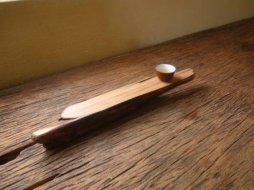 平檯上的風景-載體檜木茶盤(雙面)