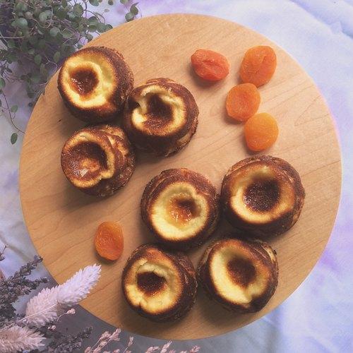 法式手工甜點心 杏桃布列塔尼蛋奶糕 Apricot far breton ☆ 一份2個