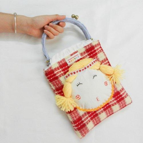 ◇獨立原創‧布袋系列◇一隻手提童趣包包可愛日系