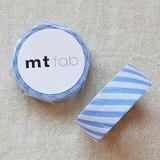 mt 和紙膠帶 fab 植絨系列【斜紋款 淺藍+白(MTFL1P16)】