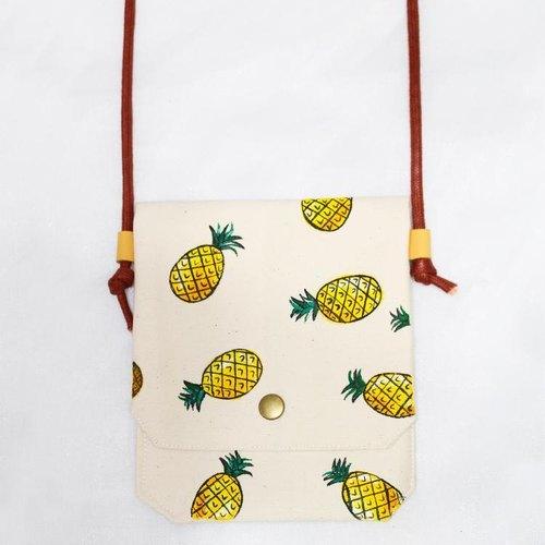手绘小袋-菠萝