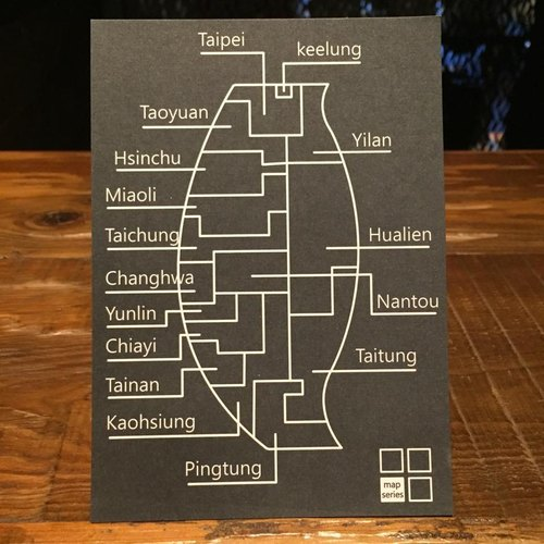 Cater- Taiwan 台灣 Map Series明信片