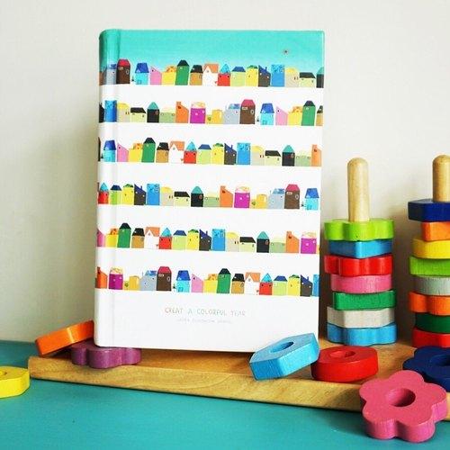 赖马无时效插画手帐本-彩色小房子 - 赖马好绘玩