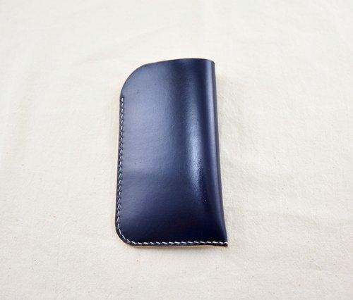 『MY HAND'S皮革工藝』-手機套-I PHONE 6S-手工皮件-手工染色-靛色