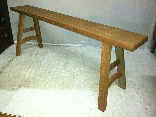 台湾古董库存老品早期长板凳长条凳长椅长条椅原木实木椅普普风ikea北