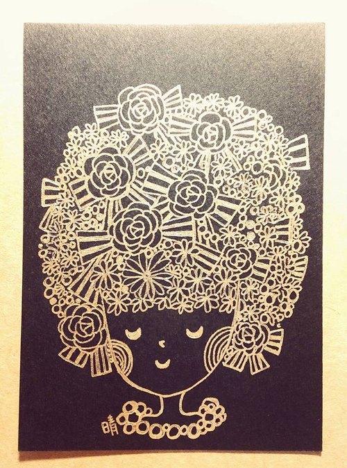 花漾少女 / 手绘卡片