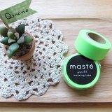 maste Masking Tape 和紙膠帶 Basic 亮眼螢光系【螢光綠 (MST-MKT07-LGN)】