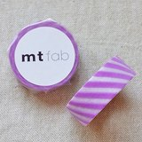mt 和紙膠帶 fab 植絨系列【斜紋款 薰衣草+白(MTFL1P19)】