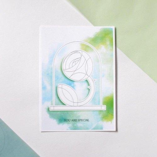 圣诞节-diy涂色圣诞明信片-小王子系列之玫瑰
