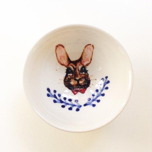 手绘小茶杯-野兔