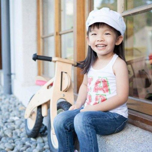 酷骑手工日系涂装简约风木头小车【标准版】【铝合金