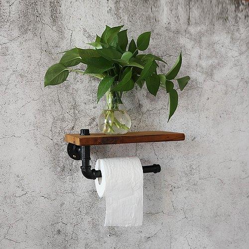【閥匠工坊】美式鄉村複古水管紙巾架置物架書架衛生間浴室紙巾架