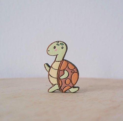设计自然乌龟木头故事手作寓言可爱动物