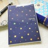 amifa 2015 迷你手帳+筆記本【27808 閃亮星星-海軍藍】