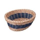 【新品】CB拉丁系列可水洗置物籃橢圓型 仿藤雙色-藍(共3色)