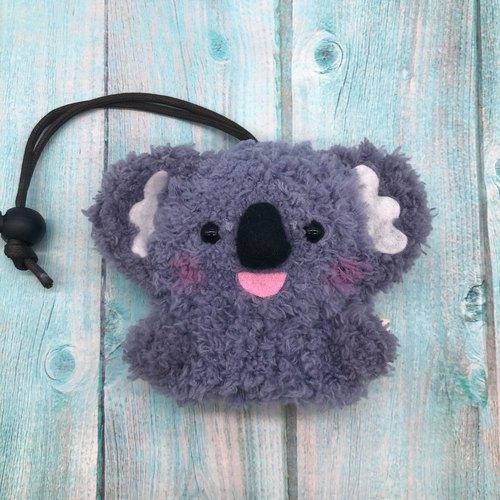 棉花糖动物钥匙包-小钥匙包(无尾熊)