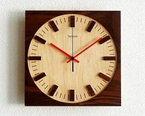 实木时钟 木制时计