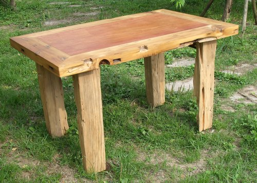 老原木餐桌,书桌