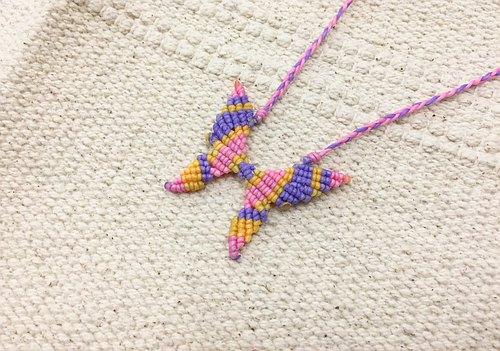 加勒比海 蠶絲蠟線 手工項鍊
