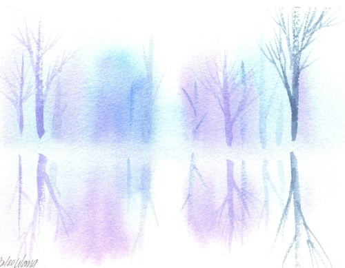 水彩画布晕染素材