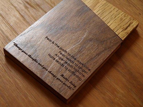 unic原木拼接设计名片盒